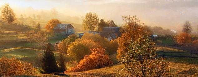 Утро в деревне звук